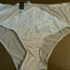 Nude and ivory hipster panty